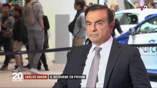 Carlos Ghosn retourne en prison