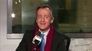 Le journaliste Christophe Barbier sur RMC, le 2 janvier 2018. (RMC)