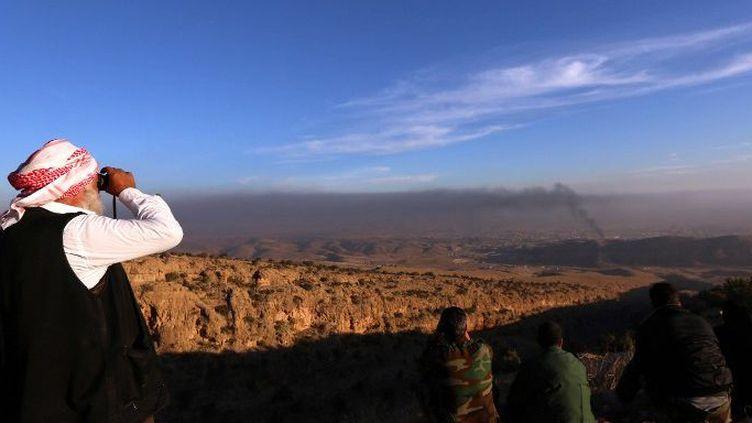 La ville de Sinjar a été reprise par les peshmergas kurdes (SAFIN HAMED / AFP)