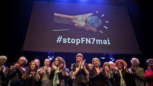 Un millier de représentants à la Cité de la Musique contre le FN le 02 mai 2017  (NICOLAS MESSYASZ/SIPA)