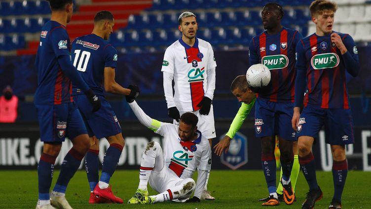 Neymar est sorti blessé face à Caen (SAMEER AL-DOUMY / AFP)