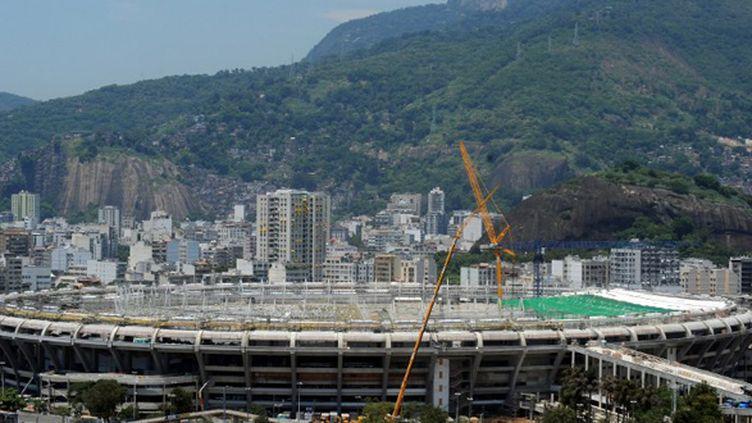 Le stade de Maracana en phase de rénovation (ANTONIO SCORZA / AFP)