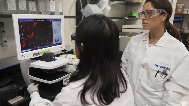 Laboratoire Novavax à Gaithesburg (Maryland-USA). Un des laboratoires développant un vaccin contre le Covid-19. (ANDREW CABALLERO-REYNOLDS / AFP)