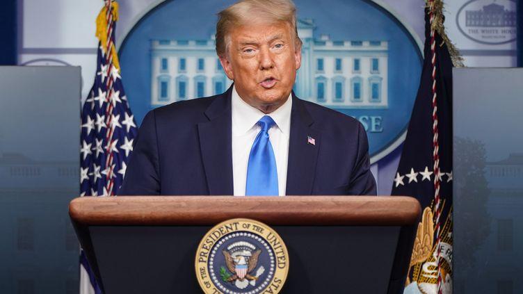 Le président américain Donald Trump pendant sa conférence de presse à la Maison Blanche le 23 septembre 2020. (JOSHUA ROBERTS / GETTY IMAGES NORTH AMERICA)