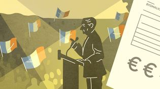 L'affaire Bygmalion porte sur un système de fausses factures destiné à masquer l'explosion des dépenses de la campagne présidentielle de Nicolas Sarkozy en 2012. (JESSICA KOMGUEN / FRANCEINFO)