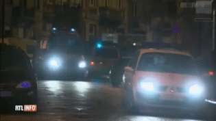 Une opération de la police belge contre des terroristes présumés a été menée, vers 18 heures à Verviers (Belgique), jeudi 15 janvier 2015. (RTL TVI / CAPTURE D'ECRAN)