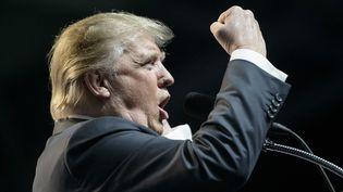 Donald Trump, lors d'un meeting à Charleston, en Virginie, le 5 mai 2016. (BRENDAN SMIALOWSKI / AFP)
