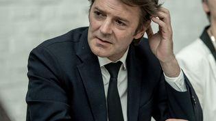 François Baroin lors d'un meeting à Tourcoing (Nord), le 11 mai 2017. (PHILIPPE HUGUEN / AFP)