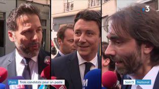 Cédric Villani, Hugues Renson et Benjamin Griveaux (France 3)