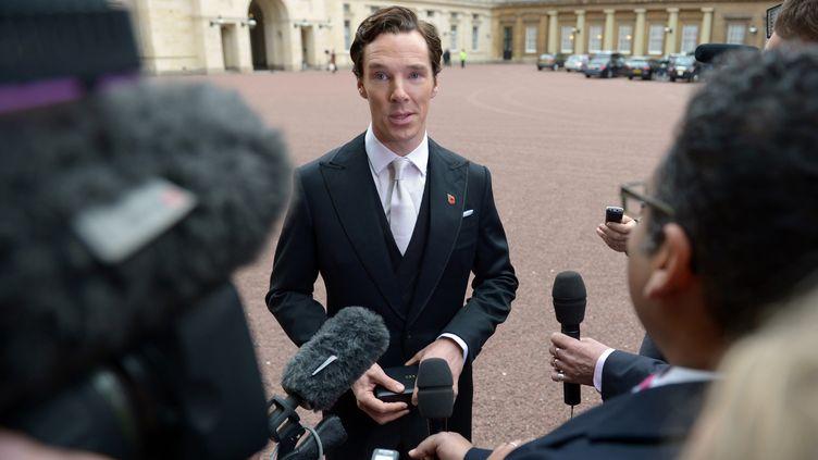 L'acteur britanniqueBenedict Cumberbatch, à Londres (Royaume-Uni), le 10 novembre 2015. (ANTHONY DELVIN / AFP)