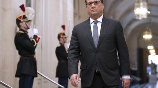 Le président de la Républoque, François Hollande, à Versailles pour le Congrès, le 16 novembre 2015. (MICHEL EULER / POOL)