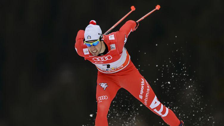 L'Italien Federico Pellegrino a créé la surprise à Val Mustair (FABRICE COFFRINI / AFP)