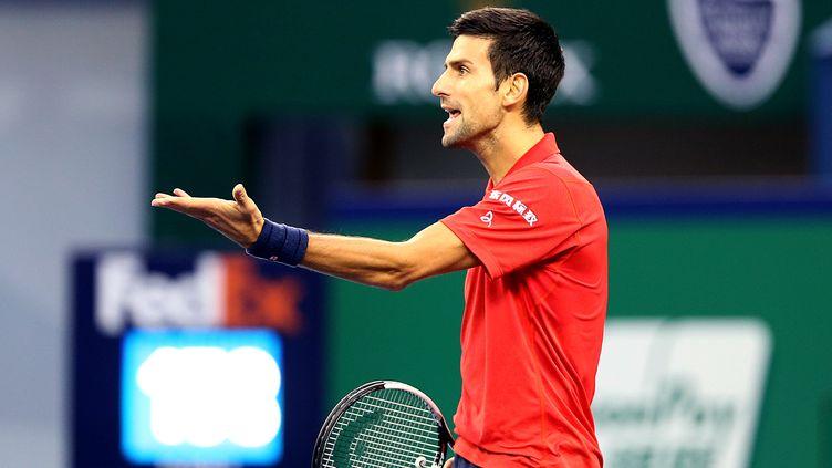 La colère de Novak Djokovic (FAN JUN / XINHUA)