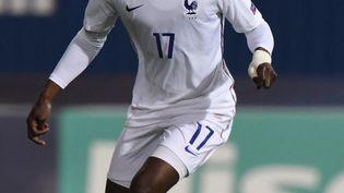 Eduardo Camavinga et les Bleuets ont condédéle nul face aux Îles Féroé, lundi 6 septembre. (ATTILA KISBENEDEK / AFP)
