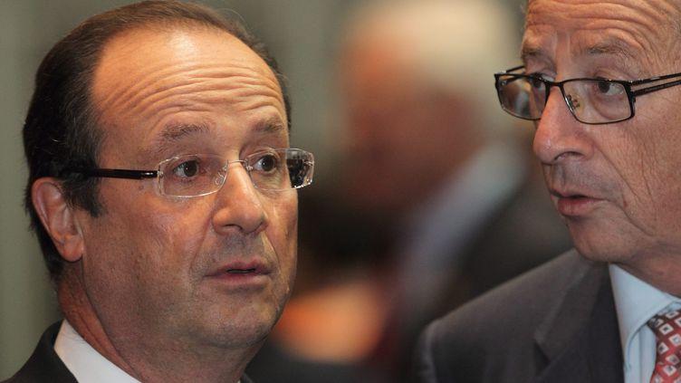 François Hollande et le Premier ministre luxembourgeois, Jean-Claude Juncker, à Vientiane, auLaos, lundi5 novembre 2012. (MAXPPP)