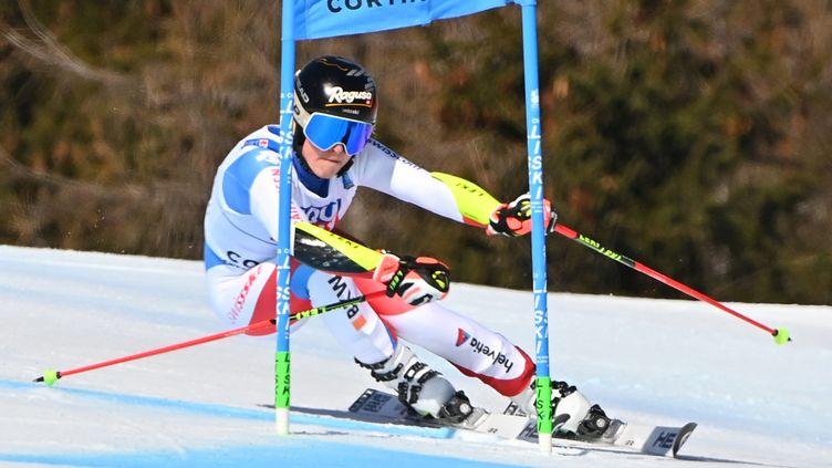 La Suissesse Lara Gut-Behrami lors du géant dames des Mondiaux de Cortina d'Ampezzo (ANDREAS SOLARO / AFP)