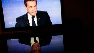 Nicolas Sarkozy pendant le troisième et dernier débat avant le premier tour de la primaire à droite, le 17 novembre 2016 sur France 2. (MAXPPP)