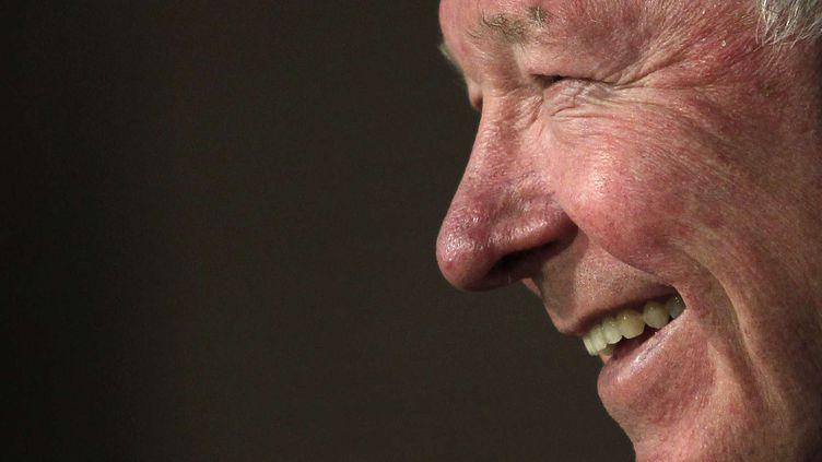 L'entraîneur de Manchester United, sir Alex Ferguson, lors d'une conférence de presse, le 12 février 2013, à Madrid (Espagne). (ANDRES KUDACKI / SIPA)