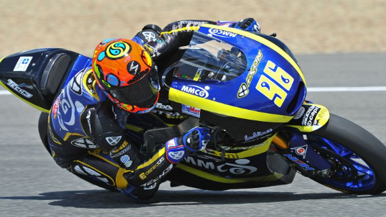 Louis Rossi avec la Mistral en Moto2