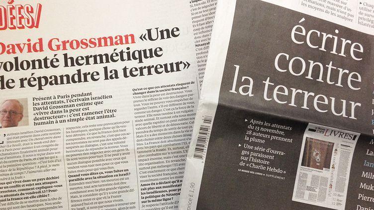 Les écrivains s'expriment après les attentats (Libération et Le Monde)  (Laurence Houot / Culturebox)