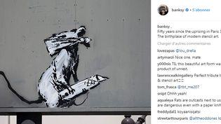 Banksy revendique une de ses oeuvres parisiennes sur son compte Instagram mardi 26 juin 2018.  (Saisie écran )