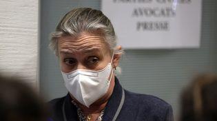 """La pneumologueIrène Frachon au palais de justice de Paris avant l'annonce du jugement dans l'affaire dite du """"Mediator"""", le 29 mars 2021. (THOMAS COEX / AFP)"""