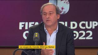 Michel Platini est l'invité de franceinfo le 6 novembre. (FRANCEINFO / RADIO FRANCE)