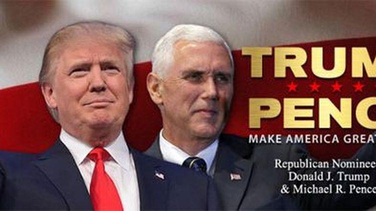 Donald Trump s'affiche avec son candidat à la vice-présidence, Mike Pence. (Capture du site twitter de Trump)