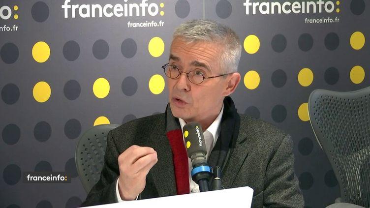 Yves Veyrier, le secrétaire général de Force Ouvrière, invité de franceinfo le 7 janvier 2020. (FRANCEINFO / RADIO FRANCE)