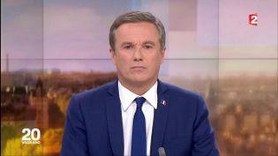Nicolas Dupont-Aignan sur le journal de 20 heures de France 2, le 28 avril 2017. (FRANCE 2)