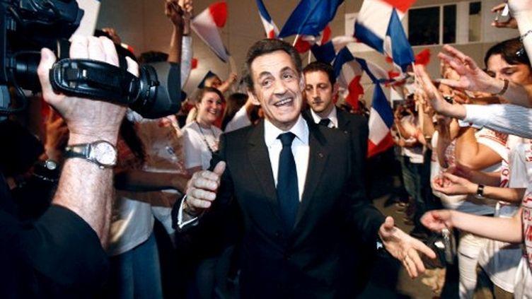 Nicolas Sarkozy, qui sera ce lundi dans le Loiret, en meeting à Rueil-Malmaison le 24 mars. (LUDOVIC / AFP)