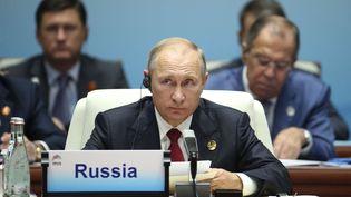 Le président russe, Vladimir Poutine, le 5 septembre 2017 à Xiamen (Chine). (WU HONG / SIPA / AP)