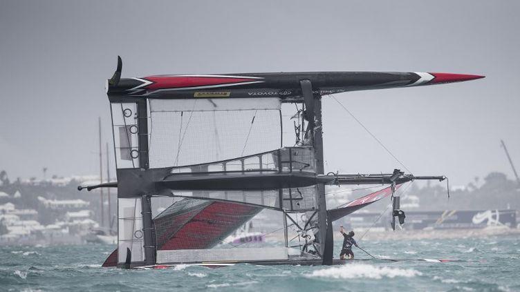 Le bateau Emirates Team New Zealand (MARK LLOYD / AFP)