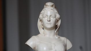 Buste de Marianne, à l'hôtel de ville d'Amiens (Somme). (MAXPPP)