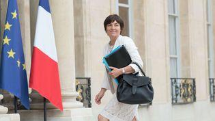 Annick Girardin, la ministre des Outre-mer, sur le perron de l'Elysée, le 24 mai 2017. (JACQUES WITT/SIPA)