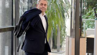 Le président de la région Hauts-de-France Xavier Bertrand, lors d'une réunion concernant Ascoval, le 31 octobre 2018. (ERIC PIERMONT / AFP)