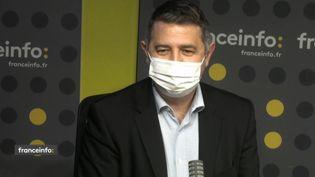 Laurent Guimier, directeur de l'information à France Télévisions. (FRANCEINFO / RADIO FRANCE)