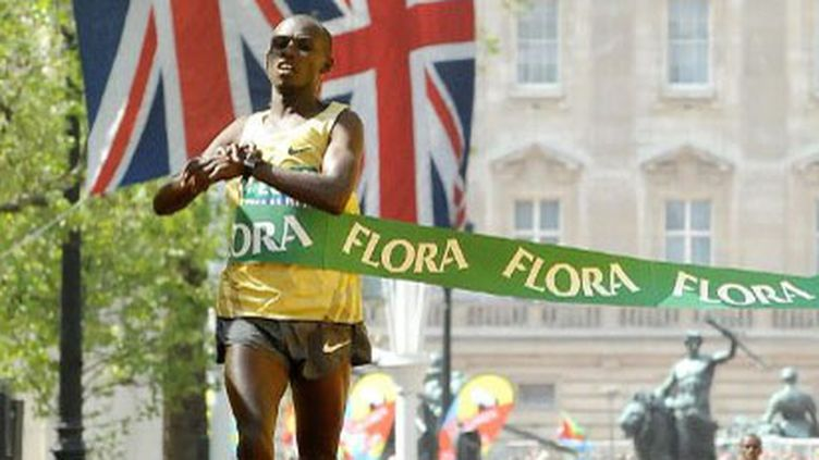 Sammy Wanjiru, vainqueur du Marathon de Londres en 2009
