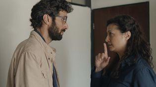 "Ziad Bakri etYumna Marwan dans ""Le Traducteur"" deRana Kazkaz et Anas Khalaf (2021). (GEORGES FILMS)"