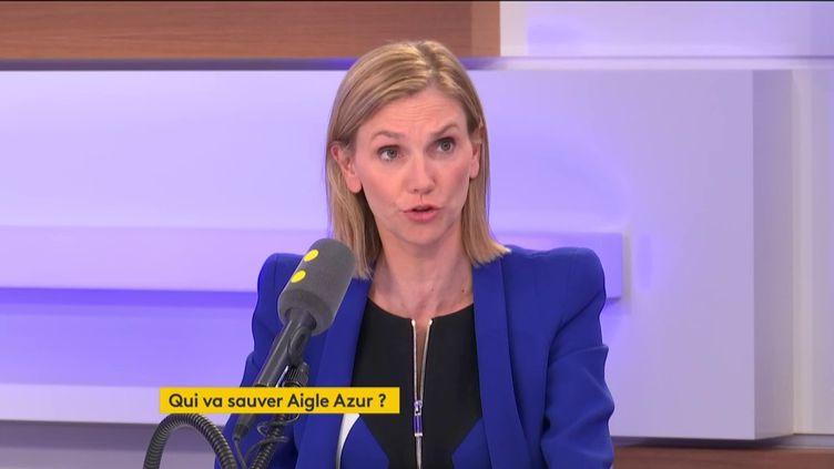 Agnès Pannier-Runacher, secrétaire d'État auprès du ministre de l'Économie et des Finances, le 4 septembre 2019 sur franceinfo. (FRANCEINFO / RADIOFRANCE)