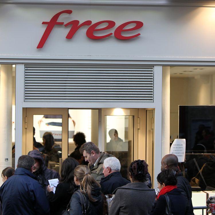 Une boutique Free, le 11 juin 2012, à Rouen (Seine-Maritime). (KENZO TRIBOUILLARD / AFP)