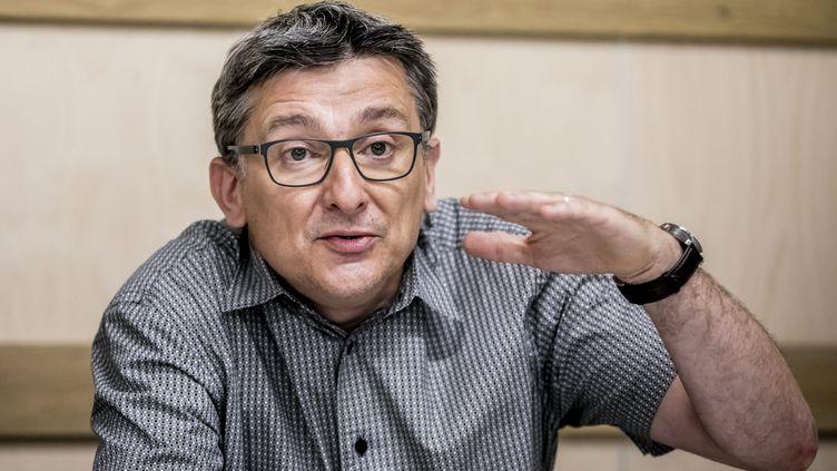Louis Maurin,directeur de l'Observatoire des inégalités, le 30 mai 2017 à Paris. (VINCENT ISORE / MAXPPP)