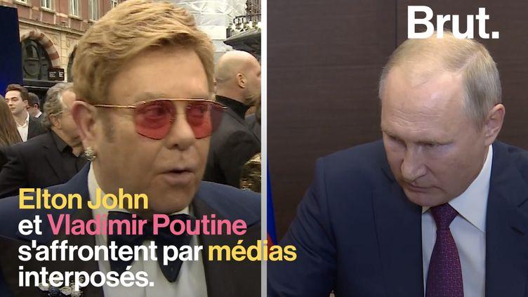 VIDEO. Rocketman censuré en Russie : l'affrontement entre Elton John et Vladimir Poutine (BRUT)