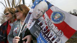 Des fans de Donald Trump, à Washington, jeudi 19 janvier 2017. (REIRI KURIHARA / YOMIURI)