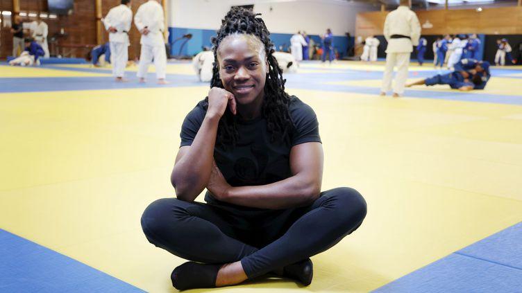 Clarisse Agbégnénou tentera de décrocher une médaille d'or à Tokyo fin juillet, le seul titre qui manque à son palmarès chez les - de 63kg. (JEAN-BAPTISTE QUENTIN / MAXPPP)