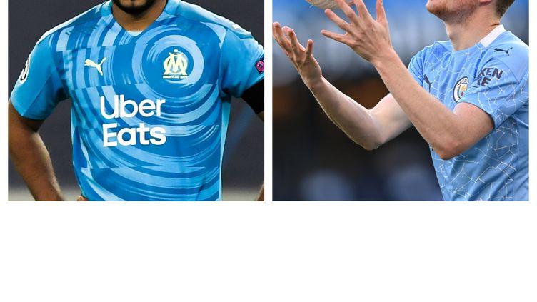 Dimitri Payet (Marseille) et Kevin de Bruyne (Manchester City)
