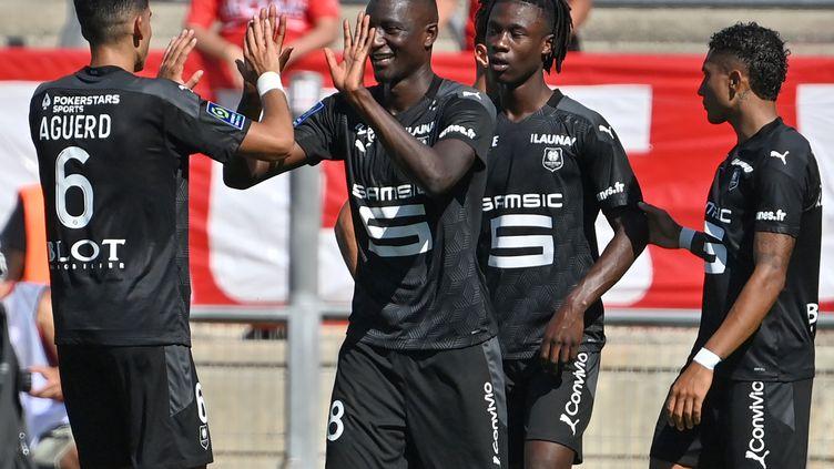 Serhou Guirassy a inscrit un doublé pour son premier match comme titulaire (PASCAL GUYOT / AFP)