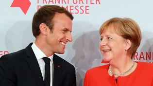 Les libéraux dont la chancelière Angela Merkel a besoin pour gouverner n'ont pas apprécié le projet de budget de la zone euro, formulé par Emmanuel Macron. (MAXPPP)