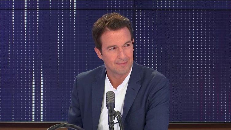 Guillaume Peltier était l'invité de franceinfo mardi 7 juillet. (FRANCEINFO / RADIOFRANCE)