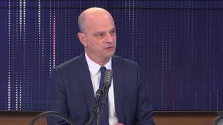 Le ministre de l'Education nationale, Jean-Michel Blanquer, sur le plateau de franceinfo, le 19 janvier 2021. (FRANCETV INFO)